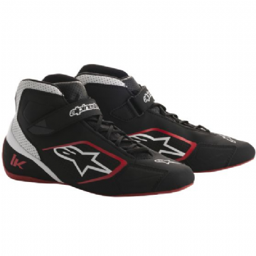 TECH 1K KART BOOTS BLK/RED/WHITE
